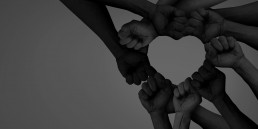 Many diverse hands coming together for one cause. Content marketing for Not-For-Profits
